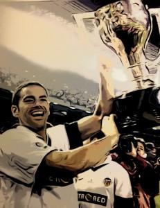 Salva Ballesta, campeón de Liga con el Valencia.