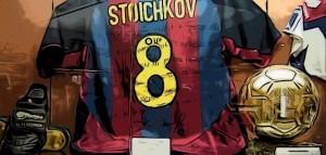 stoichov balon de oro, camiseta fc barcelona