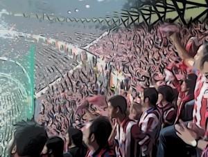 Atléticos en el Bernabéu