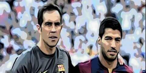 Claudio Bravo y Luis Suárez