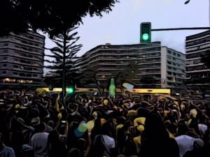 La Plaza de la Victoria, centro de la celebración.