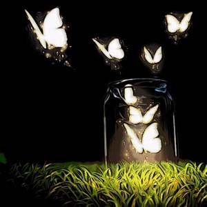 Frasco de mariposas