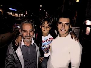 Osama Abdul y sus hijos