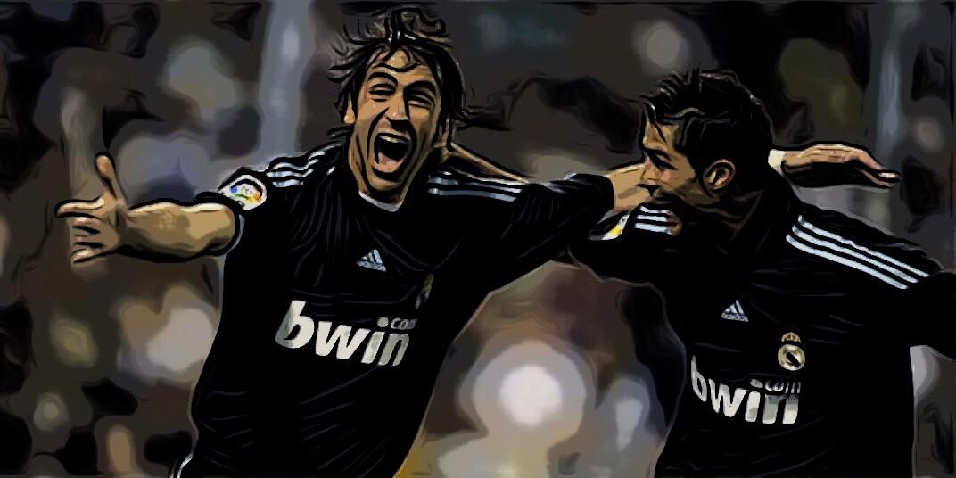 Raúl González junto a Cristiano Ronaldo, Real Madrid - ElVestuario.es