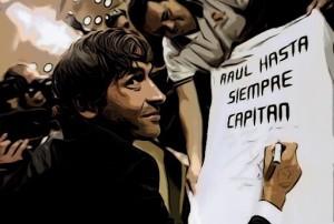 Raúl González el día de su salida del Bernabéu - ElVestuario.es