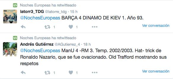 tweets 1 noche europea