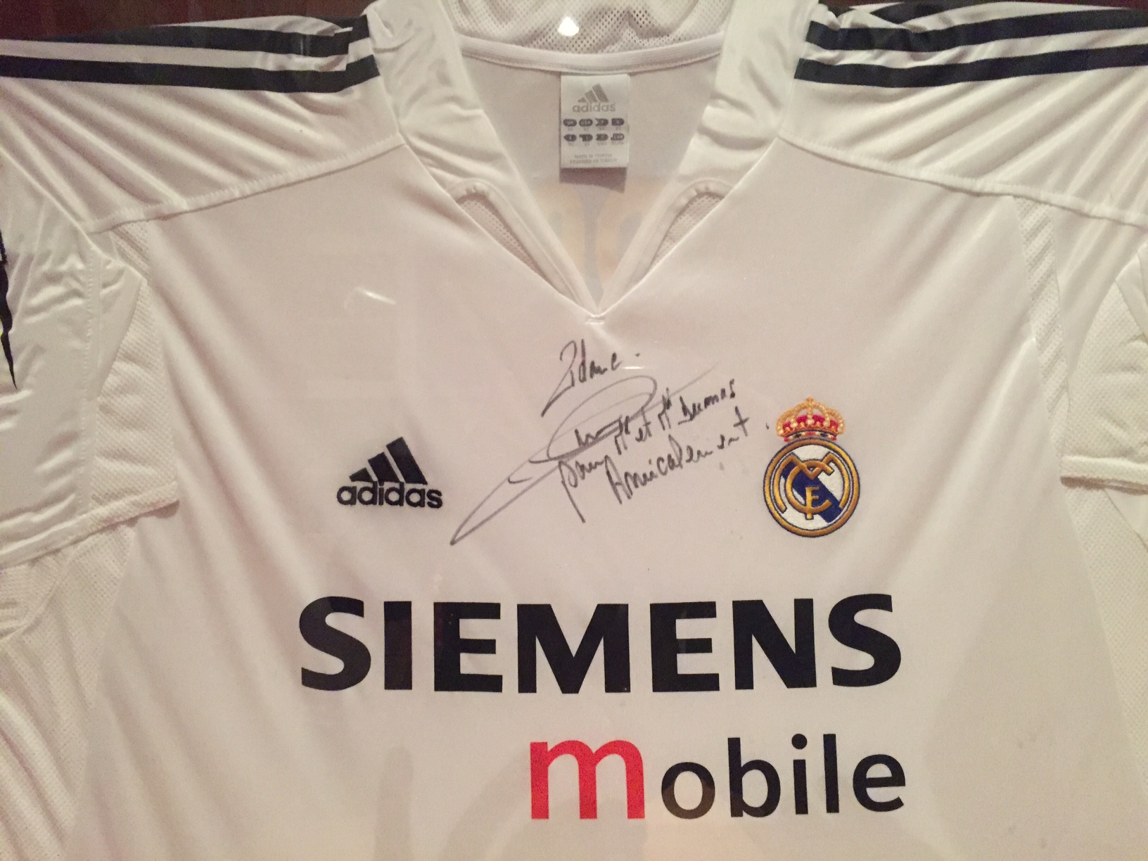 dedicatoria de Zidane