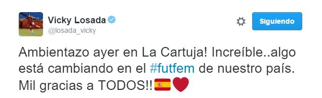 Vicky Losada tweet