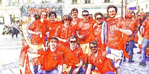 Aficionados españoles en Niza