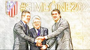 Simeone, Cerezo y Caminero.
